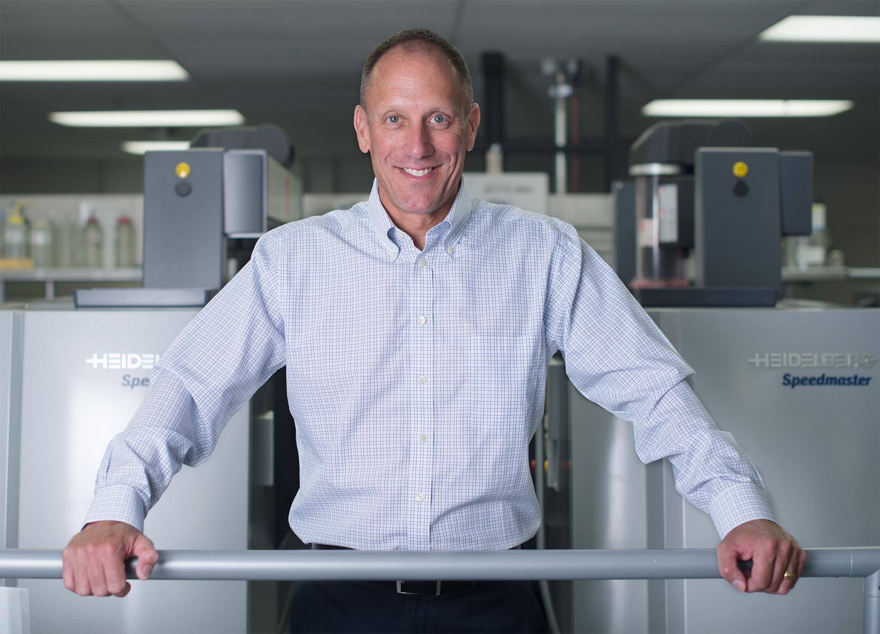 Bernie Elzer III, President & CEO of Grafika Printing, Inc.