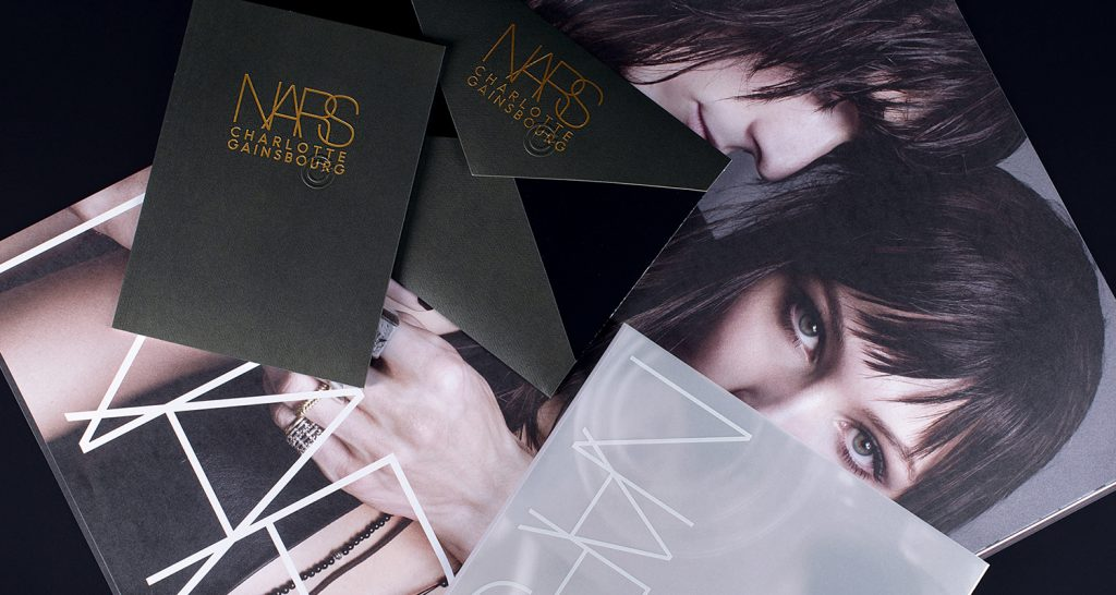 Commercial printing shown for nars cosmetics