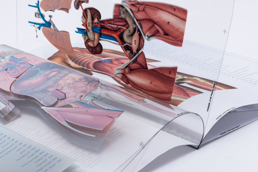 Commercial printing shown for medial books