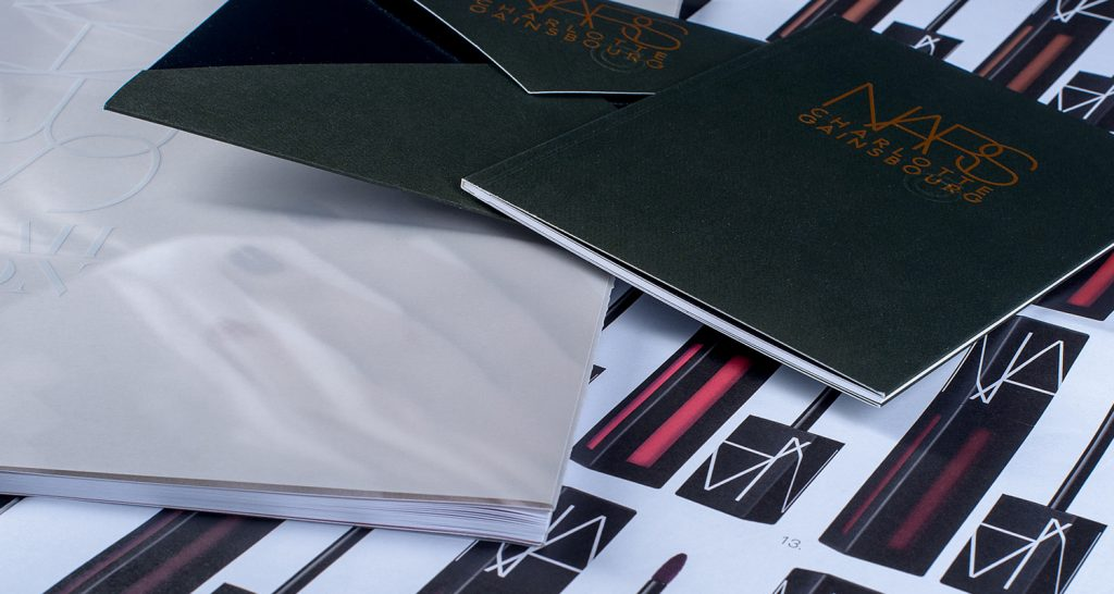 Commercial printing shown for nars