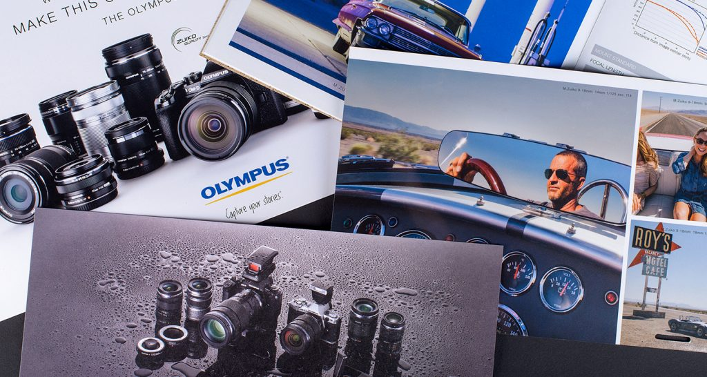 Commercial printing shown for olympus