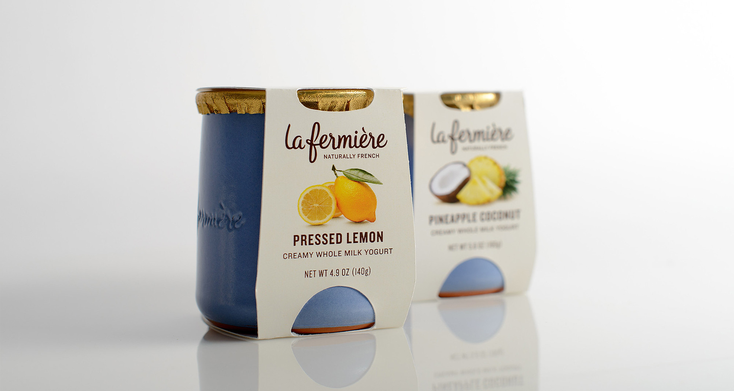 Consumer packaging shown for lemon yogurt