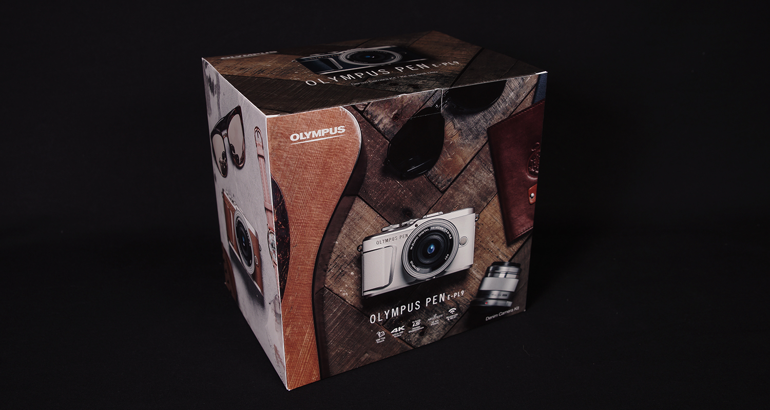 Consumer packaging shown for cameras
