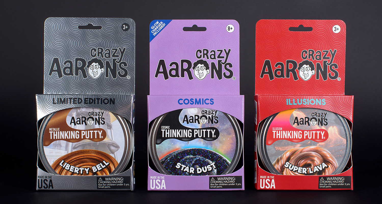 Pressure sensitive labels for crazy aarons