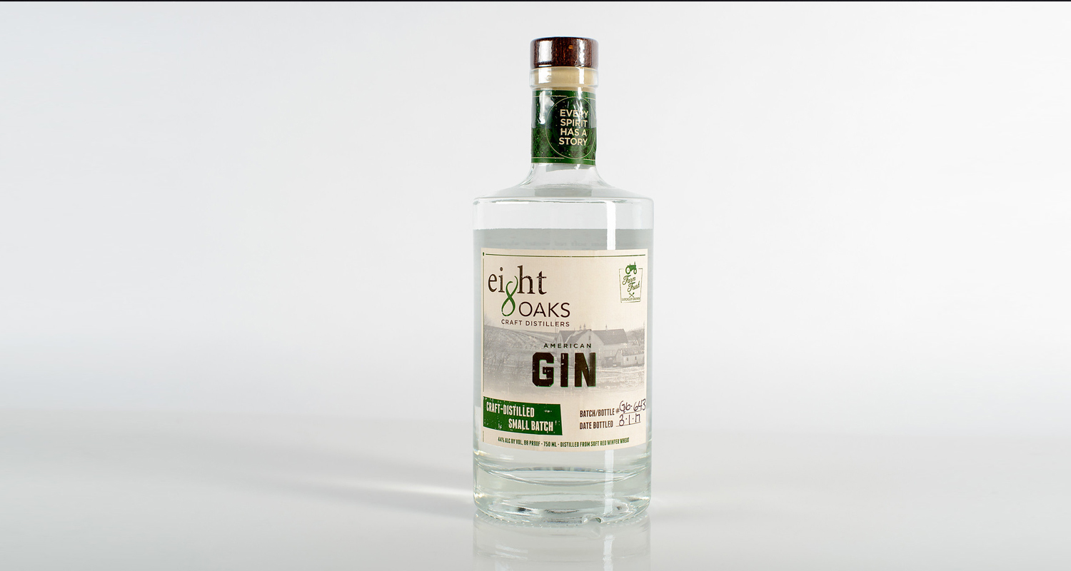 Pressure sensitive labels for gin