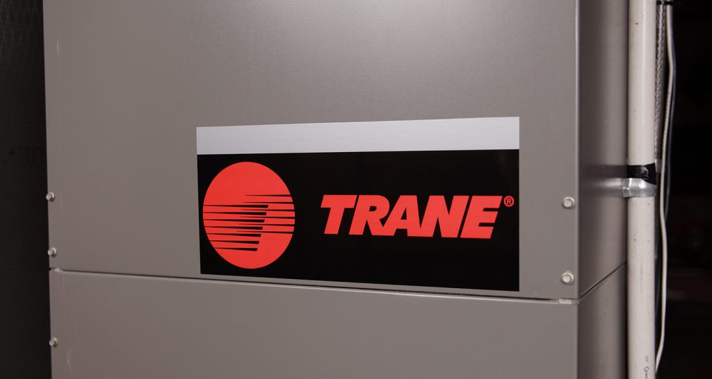 Pressure sensitive labels for trane