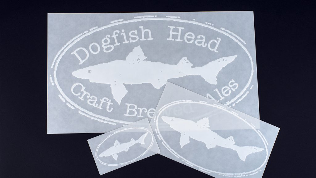 Decals shown for beer