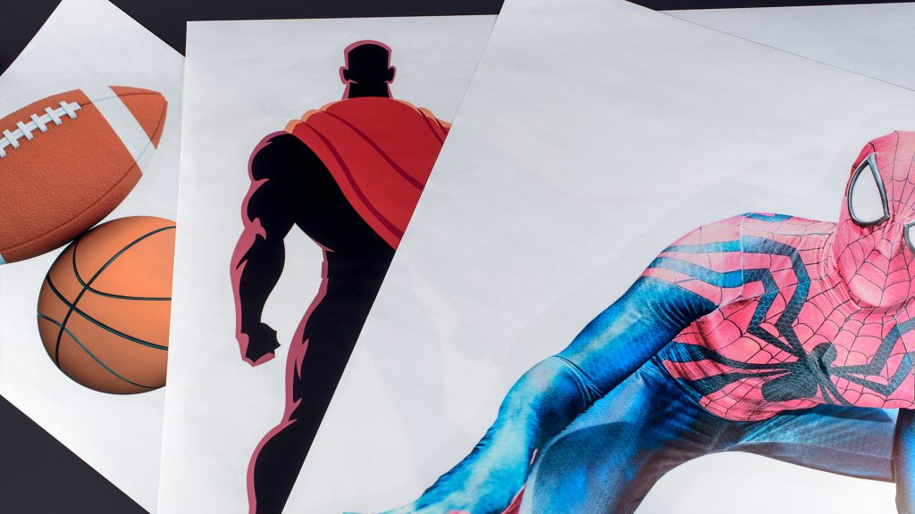 Decals shown for spiderman